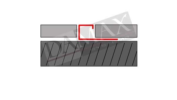 Q Profil Quadrat-Profil V2A Edelstahl